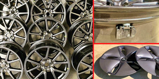 Losse Model 3 velgen, TPMS en Wheel Covers